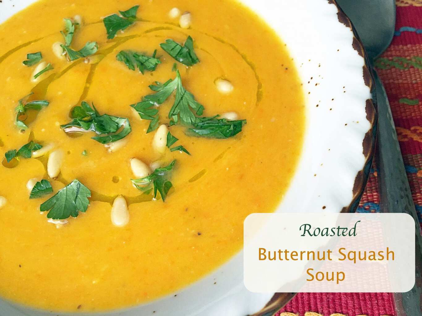 Healthy, flavorful, creamy and incredibly delicious roasted butternut squash soup.