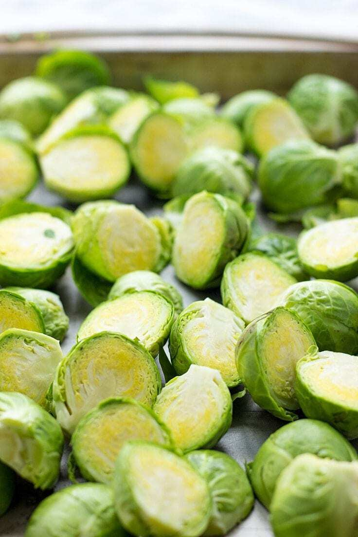 These Easy Brussel Sprouts with Honey Balsamic Vinaigrette are a healthy and delicious side dish for any holiday table. You've got to try them!