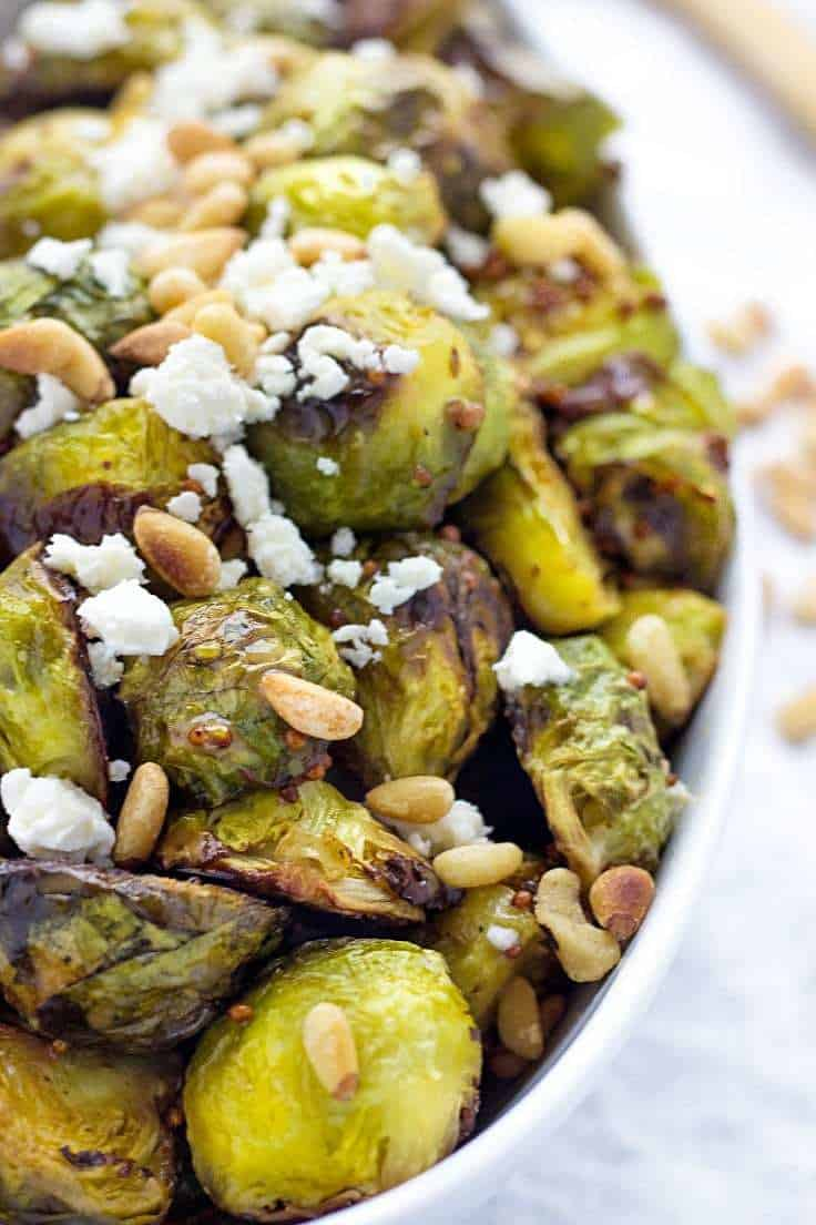 Roasted Brussel Sprouts | Brussels Sprouts Recipes | Healthy Brussels Sprouts | Balsamic Brussels Sprouts