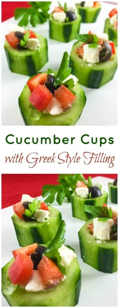 Cucumber cups are a simple and delcious party appetizer that will go fast. Combination of different textures and tastes make this simple dish a real treat.