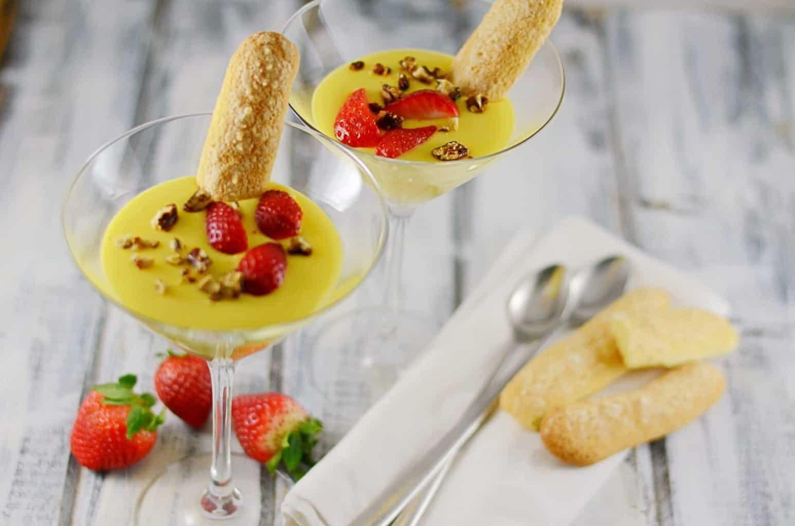 Zabaglione Recipe With Fresh Strawberries
