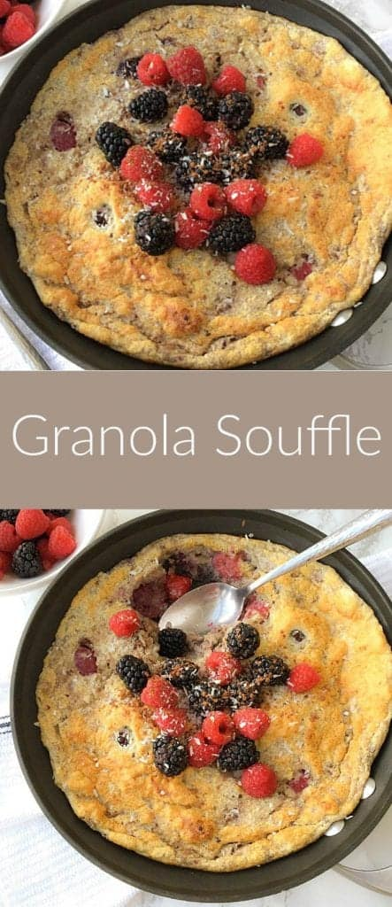 Indulge yourself in this sophisticated and good for you breakfast granola souffle, that will give you an energy kick for the whole day.