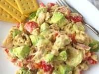 Healthy Salmon Salad With Mustard Honey Sauce