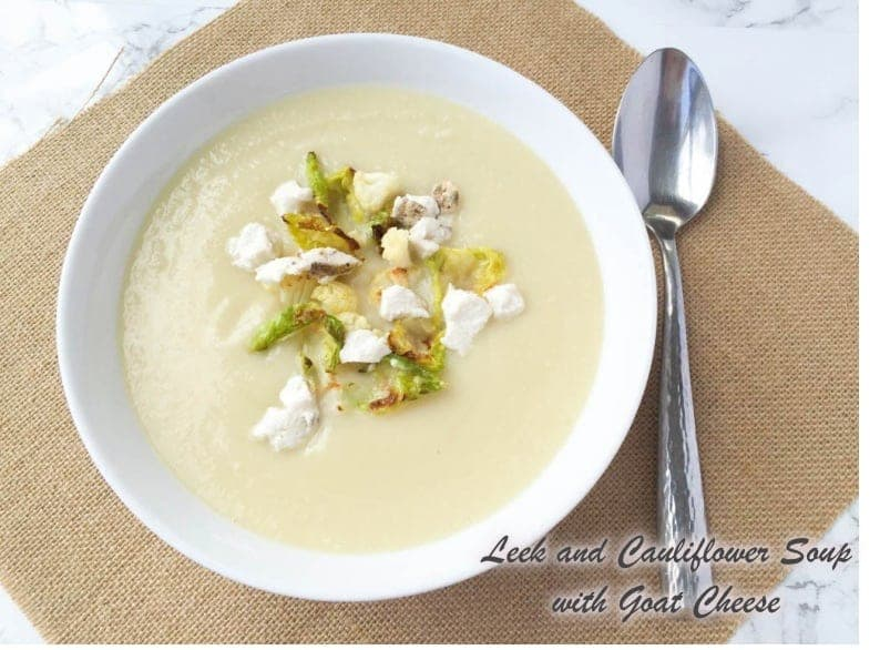 This Leek and Cauliflower Soup is an easy and healthy comfort food that goes well at any time of the year. Loaded with veggies and flavor.