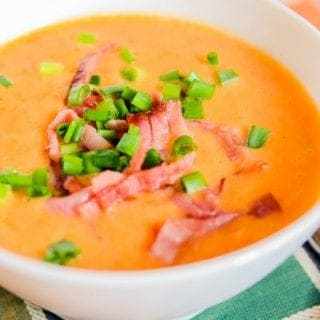 Tomato White Bean Soup With Bacon