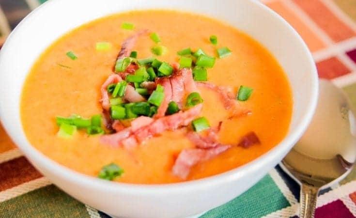 Tomato White Bean Soup With Bacon -
