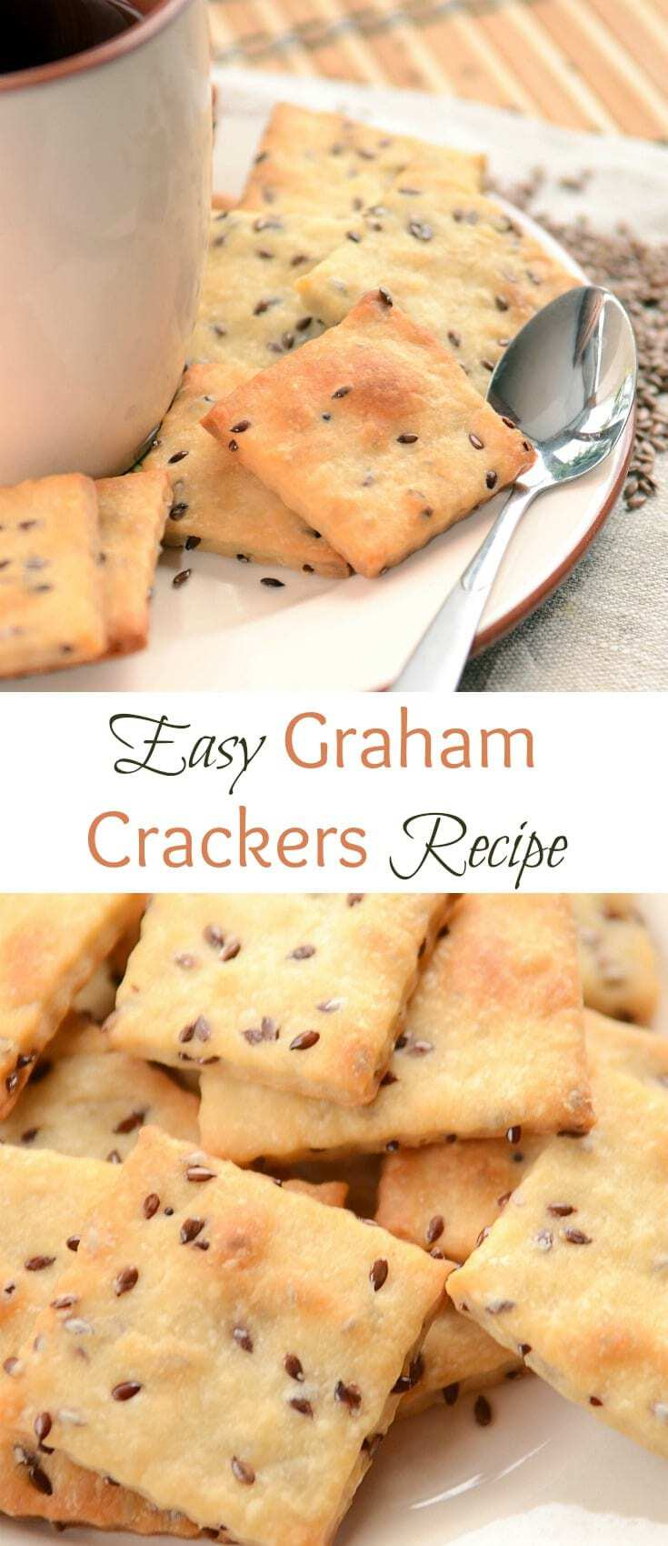 Easy Graham Crackers Recipe is a fast and no-fail snack that you and your kids will love. Crackers come out lightly sweet with a slight puff pastry texture. Goes well with tea or coffee.