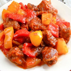 There's something about this easy sweet and sour Pineapple Pork Tenderloin, that makes you crave this dish over and over again.