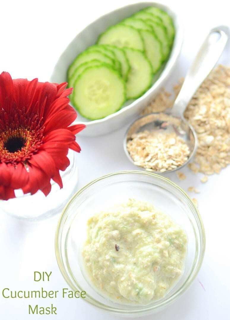 Easy Homemade Cucumber Face Mask is a luxurious spa treatment at no cost. Perfectly nourishes and lightens your skin, making it look radiant and fresh.