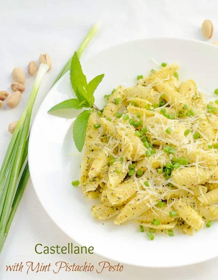 Hearty weeknight dinner has never been more tasty. Castellane Pasta coated in fresh and flavourful mint pistachio pesto will make you full and happy.