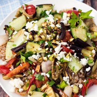 Bulgur Tabbouleh Salad With Grilled Vegetables