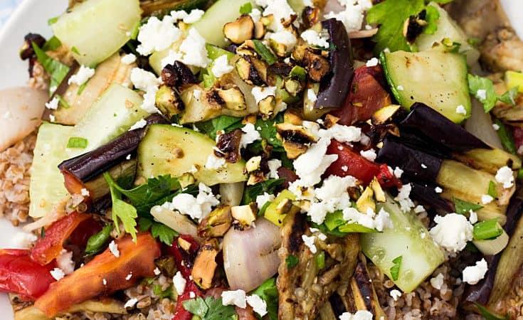 Bulgur Tabbouleh Salad With Grilled Vegetables