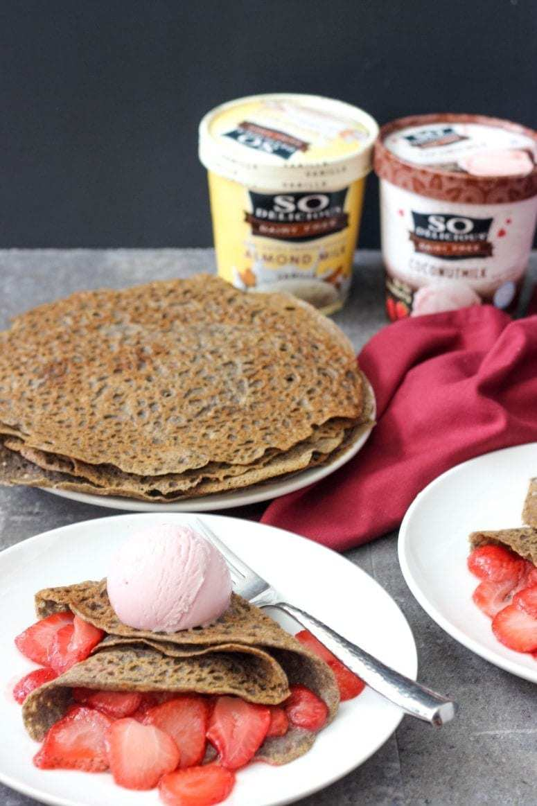 These Gluten-Free and Vegan Buckwheat Crepes are crispy on the outside with a mild nutty flavor. Healthy and delicious breakfast or dessert.