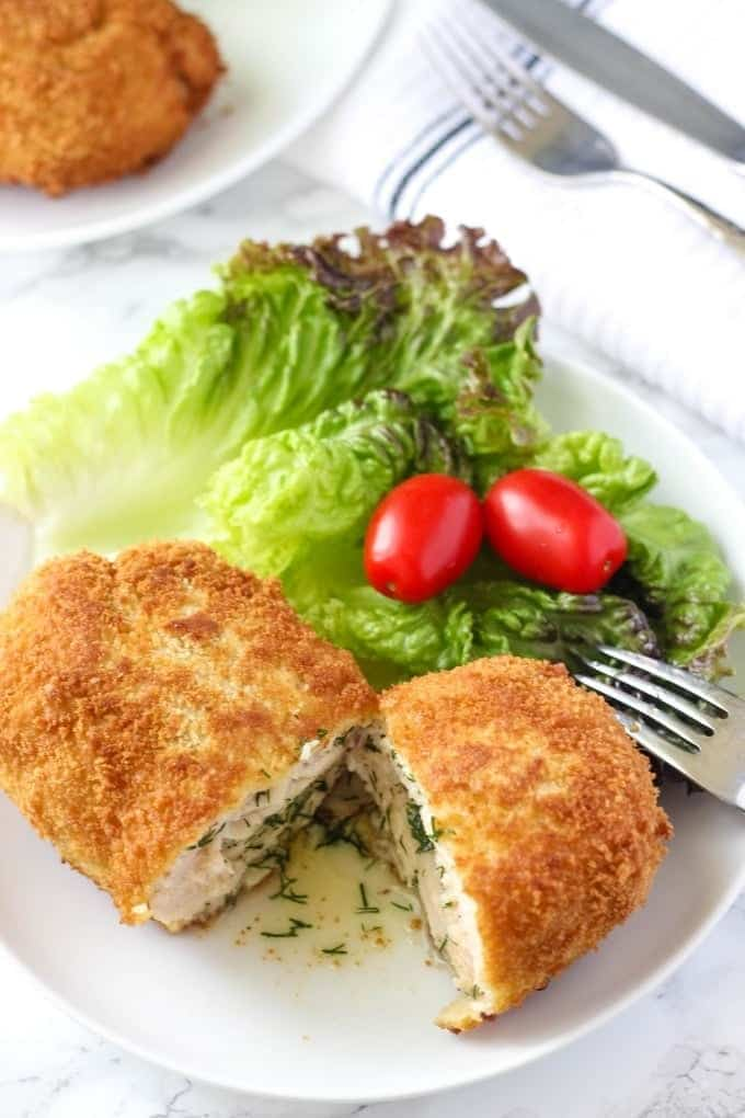 The Best Recipe For Homemade Chicken Kiev Is Here Two Coats Of Breading Create The