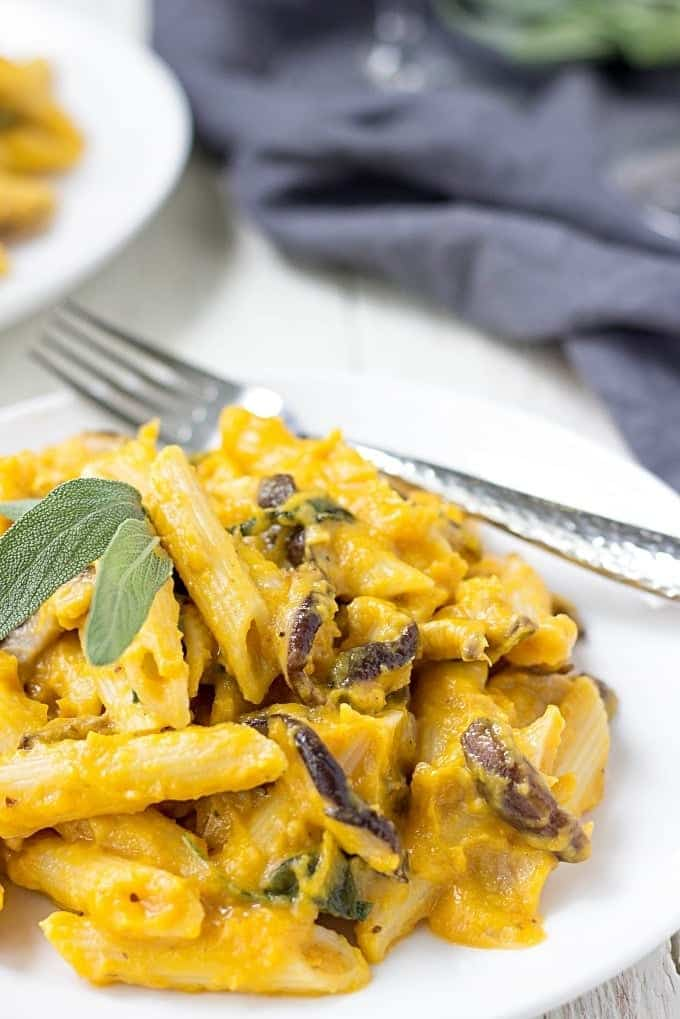 Treat yourself and your loved ones and indulge in a creamy dreamy Shiitake Penne Pasta with Butternut Squash Sauce.This dish is a crowd-pleaser.