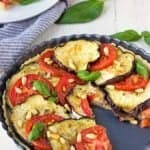 Eggplant Tart With Tomatoes And Goat Cheese