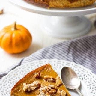Hazelnut Crust Pumpkin Caramel Pie