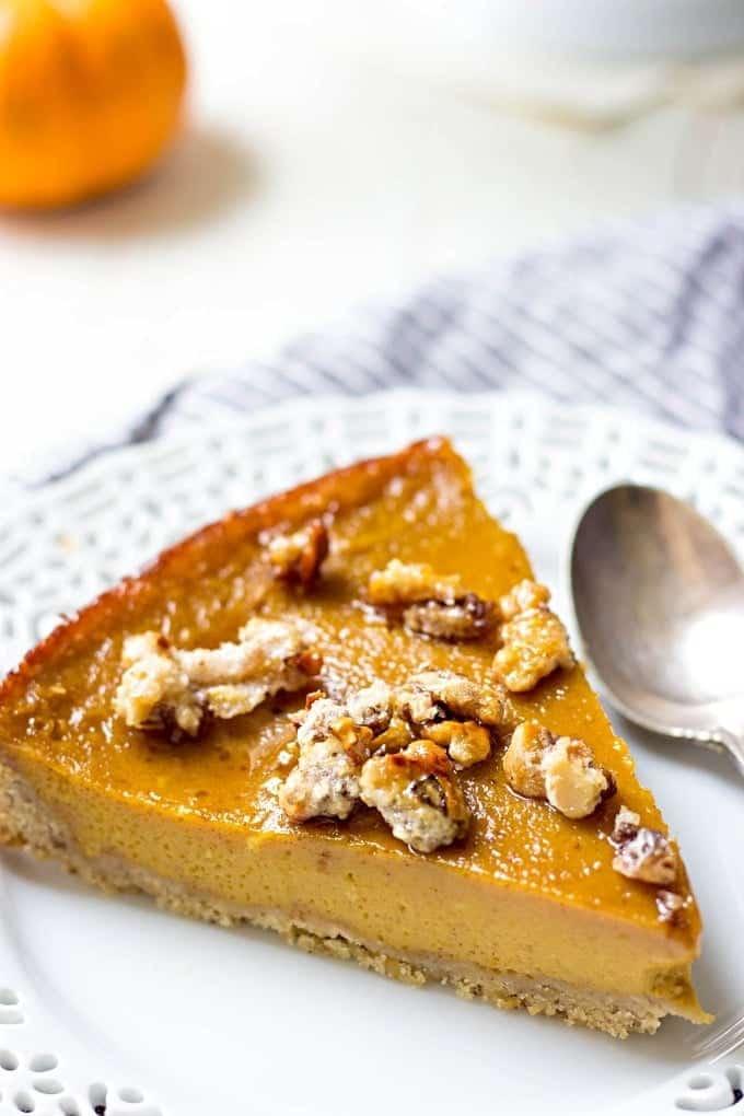 Hazelnut Crust Pumpkin Caramel Pie. Don't just set for a regular pumpkin pie. Make this scrumptious Hazelnut Crust Pumpkin Caramel Pie and you'll be blown away by its deliciousness.