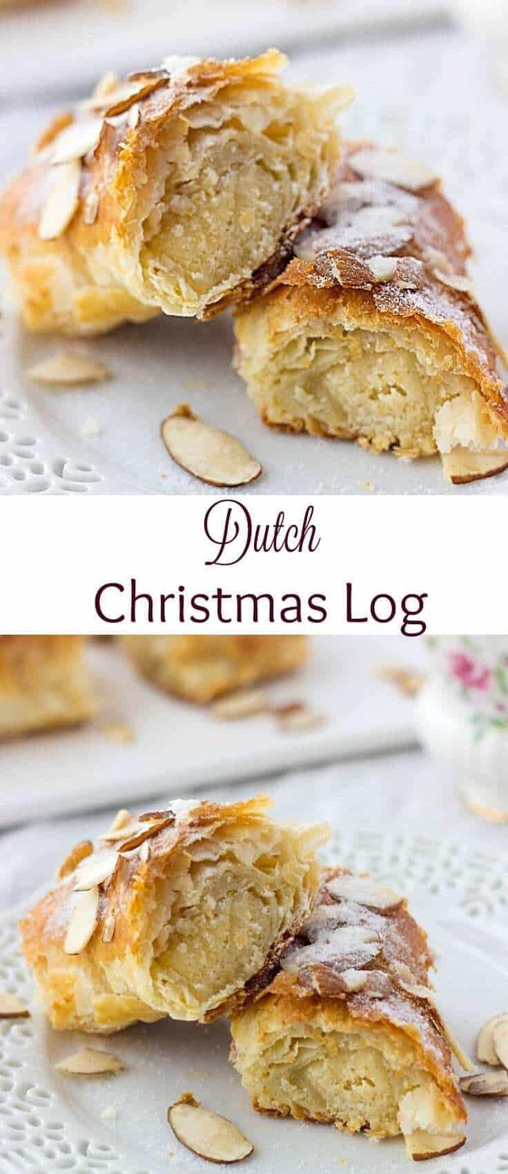 Pinterest Image of Dutch Banket dessert
