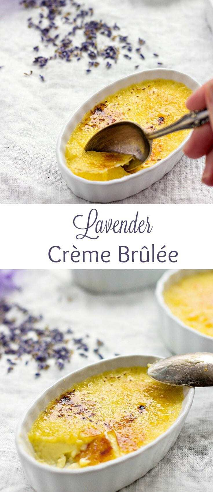 easy dessert | New Year's Eve dessert | creme brulee recipe | lavender desserts
