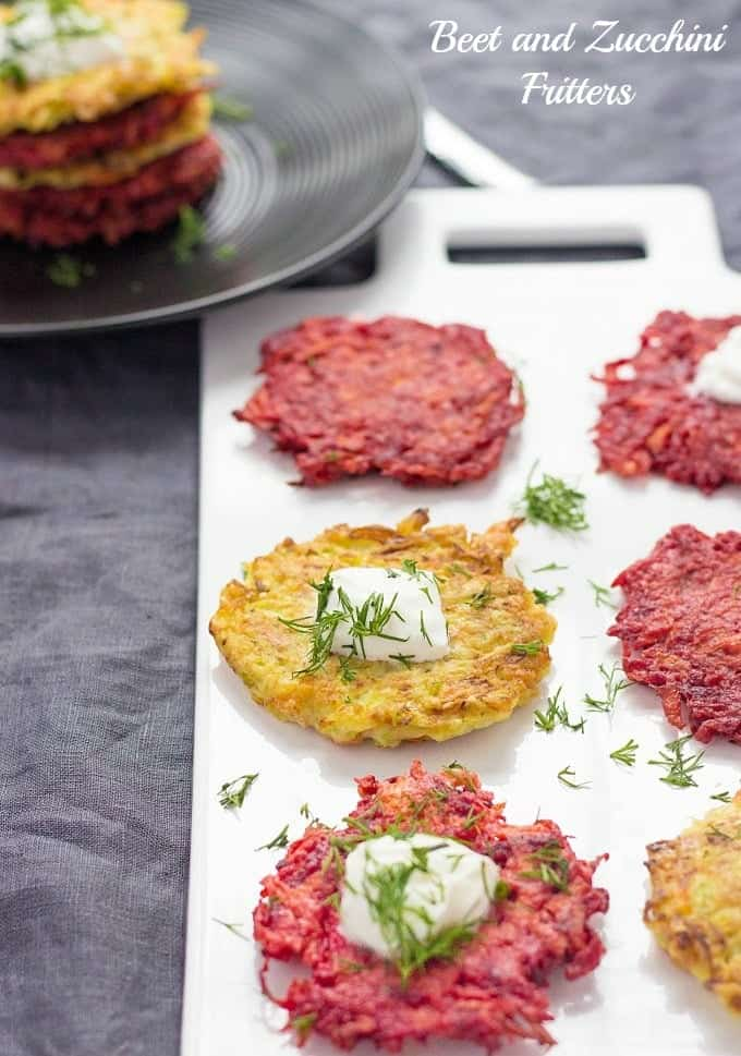 You've got to try Beet and Zucchini Fritters! They're so delicate and tasty! Be sure, regardless of how many fritters you make, they will sure to go fast!