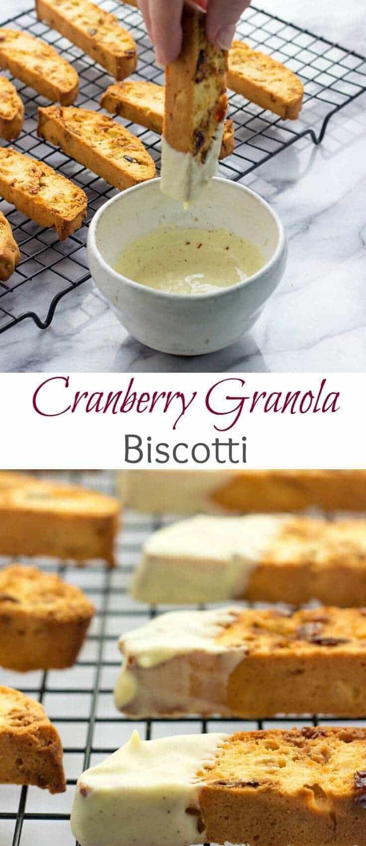 Cranberry Granola Biscotti   Cranberry Biscotti Recipe   Cranberry Biscotti With White Chocolate Dip   Cranberry Biscotti Recipe For Breakfast