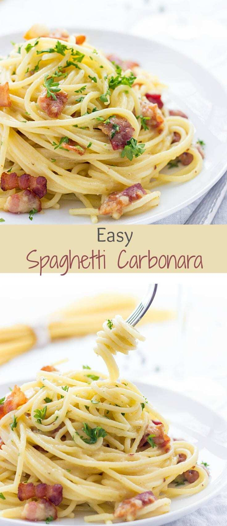 It's a love at first sight! Eggs, cheese and bacon are a no-fail combo. If you've never tried Spaghetti Carbonara, you gotta do it now. It has a silky smooth texture, incredible flavor and rich taste.