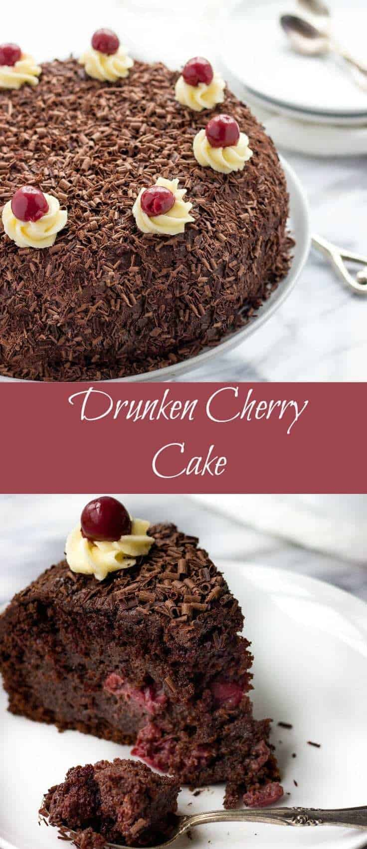 Drunken Cherry Cake is moist, drenched ina decadent mixture of Dulce De Leche, cherries and rum. This Cherry Dulce De Leche Cake is out of this world delicious. You've got to try it!