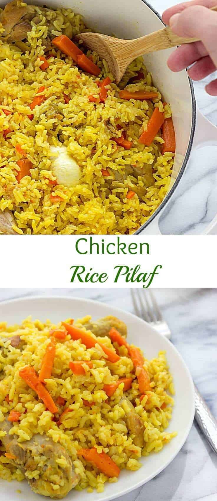 chicken rice pilaf | rice pilaf | chicken pilaf recipe | healthy rice pilaf | rice recipes