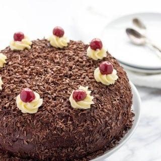 Drunken Cherry Cake
