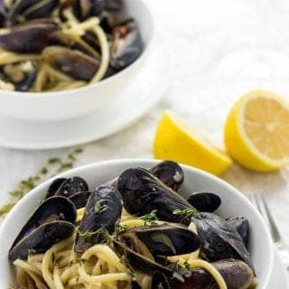Mussels Bucatini In A White Wine Sauce