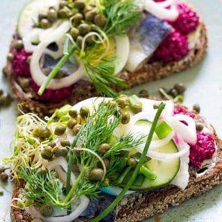Herring Smørrebrød (Danish Sandwich)
