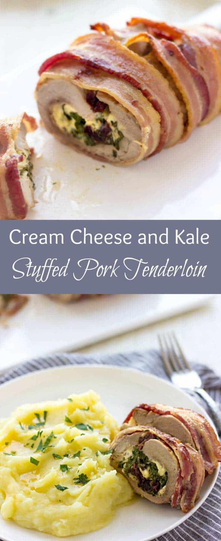 Stuffed Pork Tenderloin | Cream Cheese Stuffed Pork Tenderloin | Baked Pork Tenderloin | Bacon Wrapped Pork Tenderloin