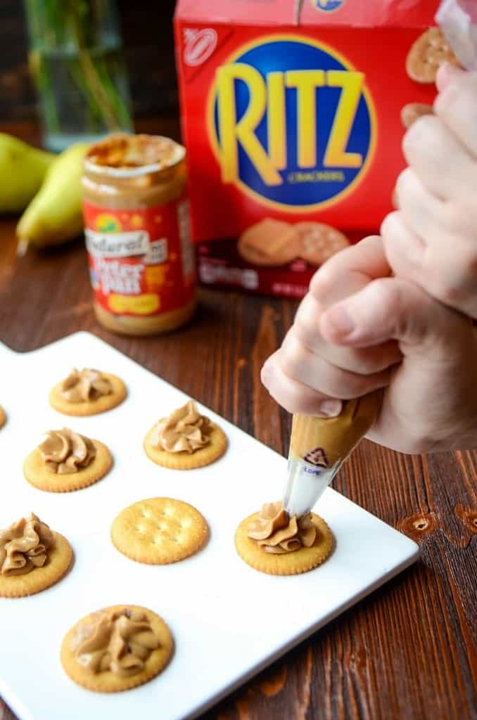 RITZ Crackers Appetizer   Easy Cracker Appetizer   Simple Cracker Appetizer   Peanut Butter Appetizer
