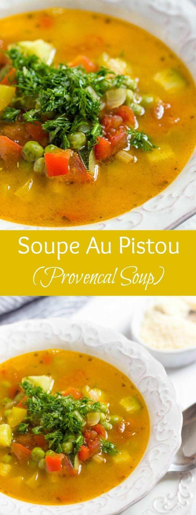 Soupe Au Pistou - French classic vegetable soup. This Provencal soup ...