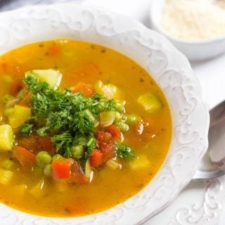 Soupe Au Pistou With Vegetables | Provencal Vegetable Soup | French Vegetable Soup With Pesto | Summer Vegetable Soup