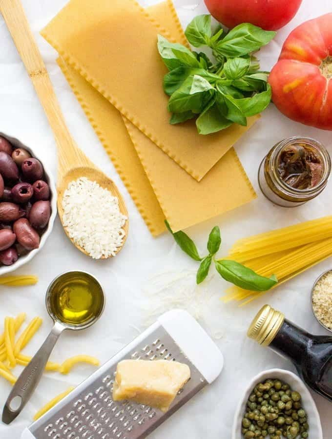 With my ULTIMATE Italian Pantry Staples list you'll be whipping up easy Italian recipes in a blink of an eye. Use my pantry staples list to stock your pantry with the most essential ingredients for Italian cooking.