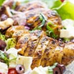 Grilled Chicken Greek Panzanella Salad