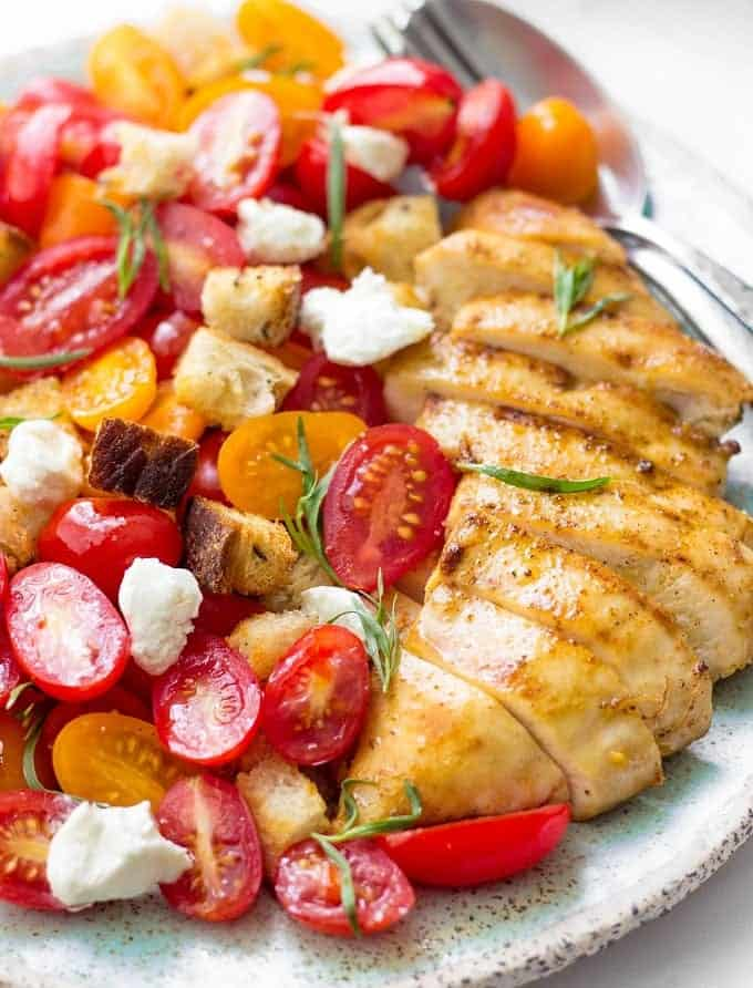 Such an EASY and delicious Grilled Chicken Salad to put together for your favorite summer occasion. It's healthy, refreshing and requires minimal ingredients.