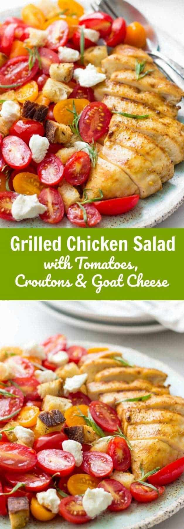 Msg 4 21+ Such an EASY and delicious Grilled Chicken Salad to put together for your favorite summer occasion. It's healthy, refreshing and requires minimal ingredients.