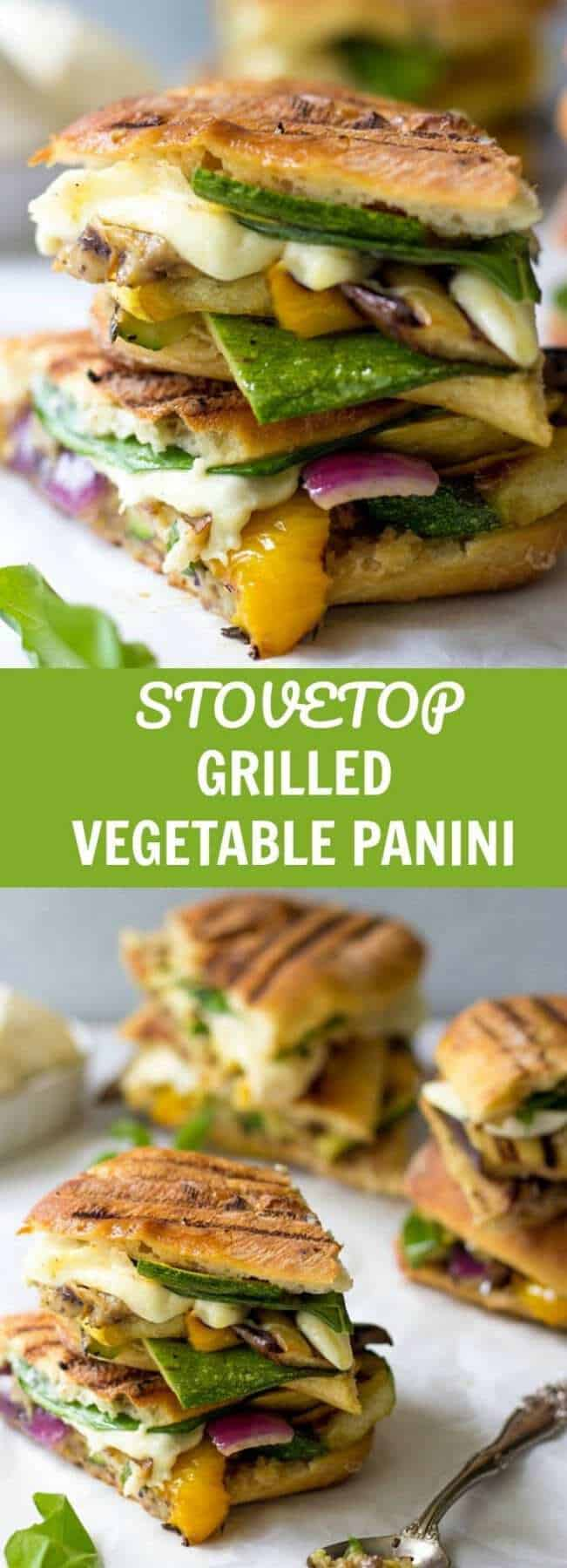 Smokingly DELICIOUS, these Stovetop Grilled Vegetable Panini are loaded with comforting flavors of summer vegetables and melty cheese. Best part - you don't even need a panini maker!