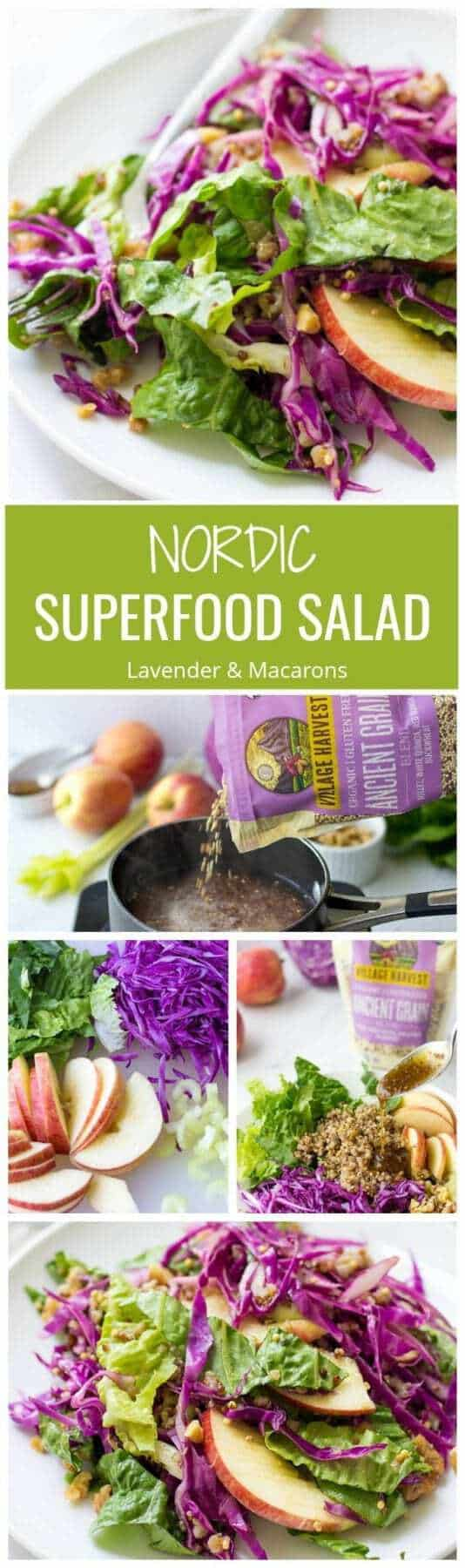 EPIC Nordic Superfood Salad is packed with nutrients. Crunchy, juicy and incredibly delicious, this healthy salad will is going to be a hit in you house.