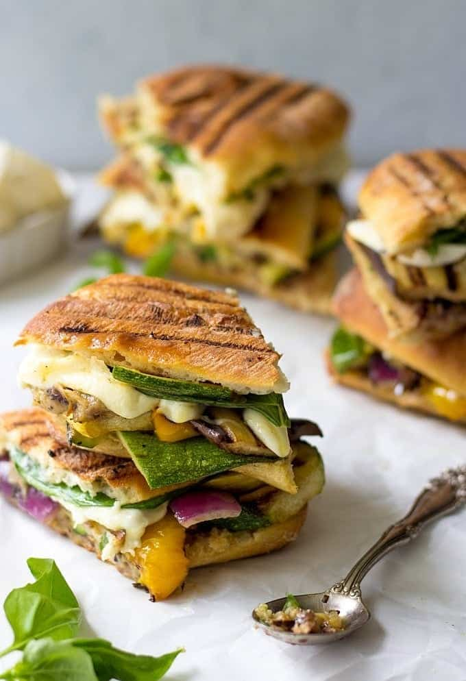 Stovetop Grilled Vegetable Panini - Lavender & Macarons