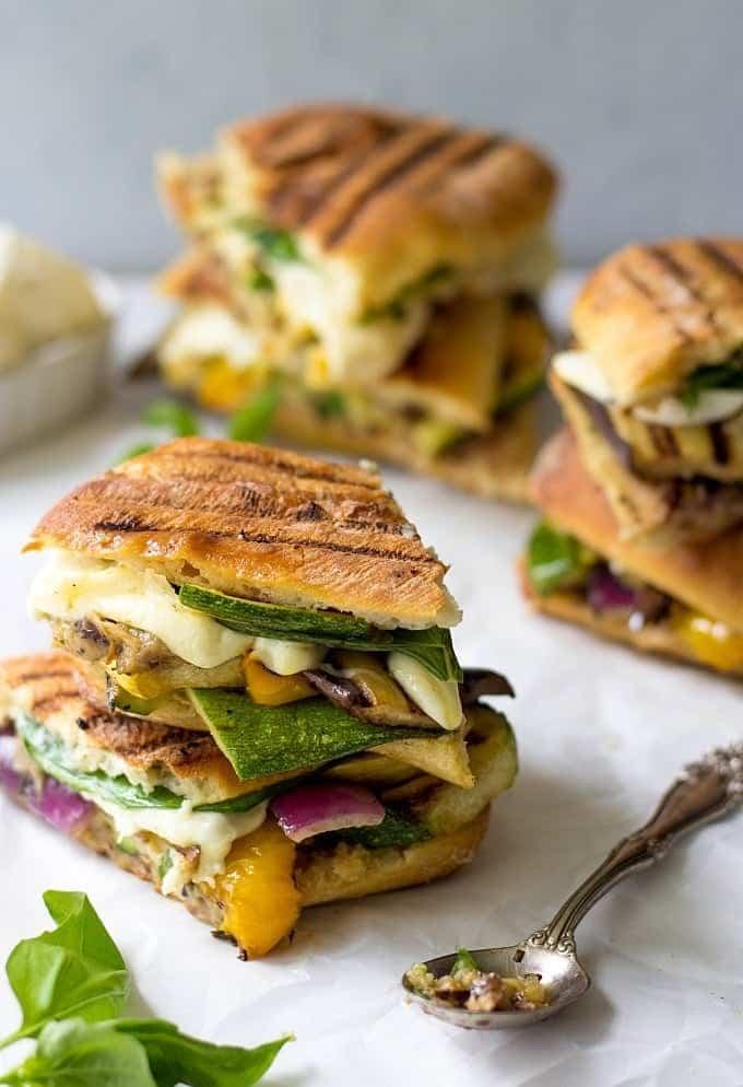 Stovetop Grilled Vegetable Panini - Lavender & Macarons