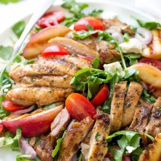 Portuguese Salad With Grilled Chicken And Peaches