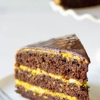 Chocolate Pumpkin Layer Cake (Step-By-Step Tutorial)