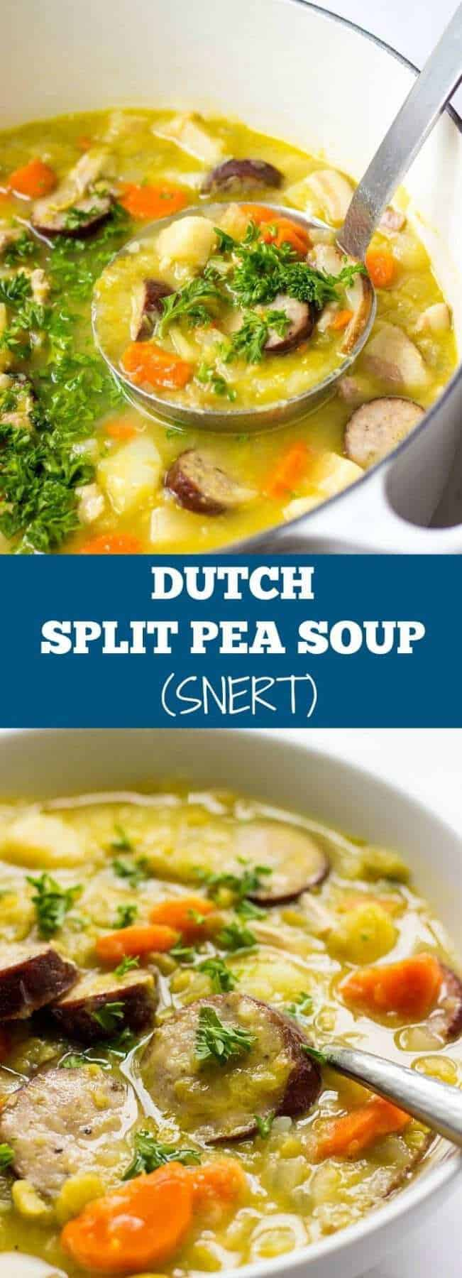 Craving hearty soup recipes? This Dutch Split Pea Soup With Bacon And Sausage is the ultimate comfort food for a cold weather.
