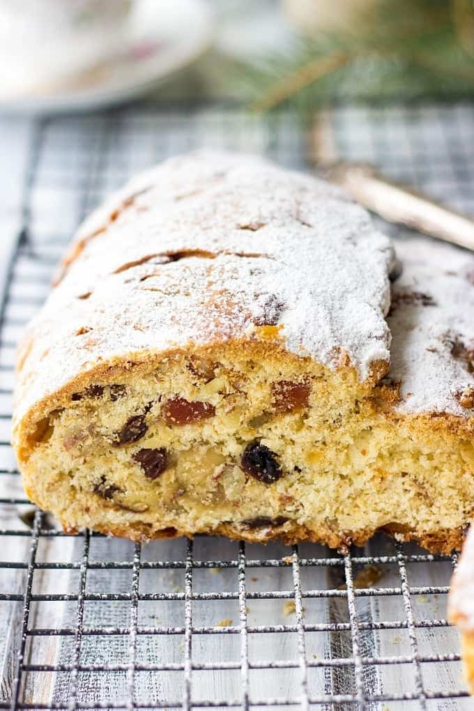 German christmas cake stollen recipe lavender macarons looking for traditional christmas dessert recipes try german christmas cake stollen it is forumfinder Choice Image