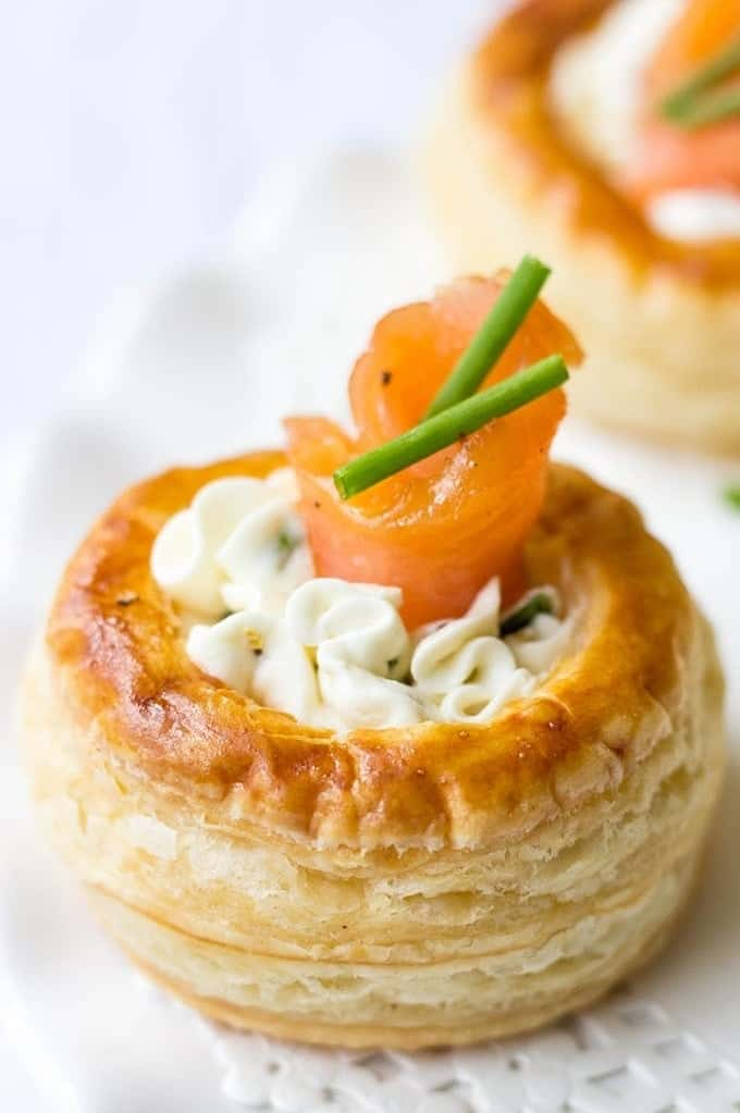 Cream Cheese And Smoked Salmon Vol Au Vents Lavender Macarons