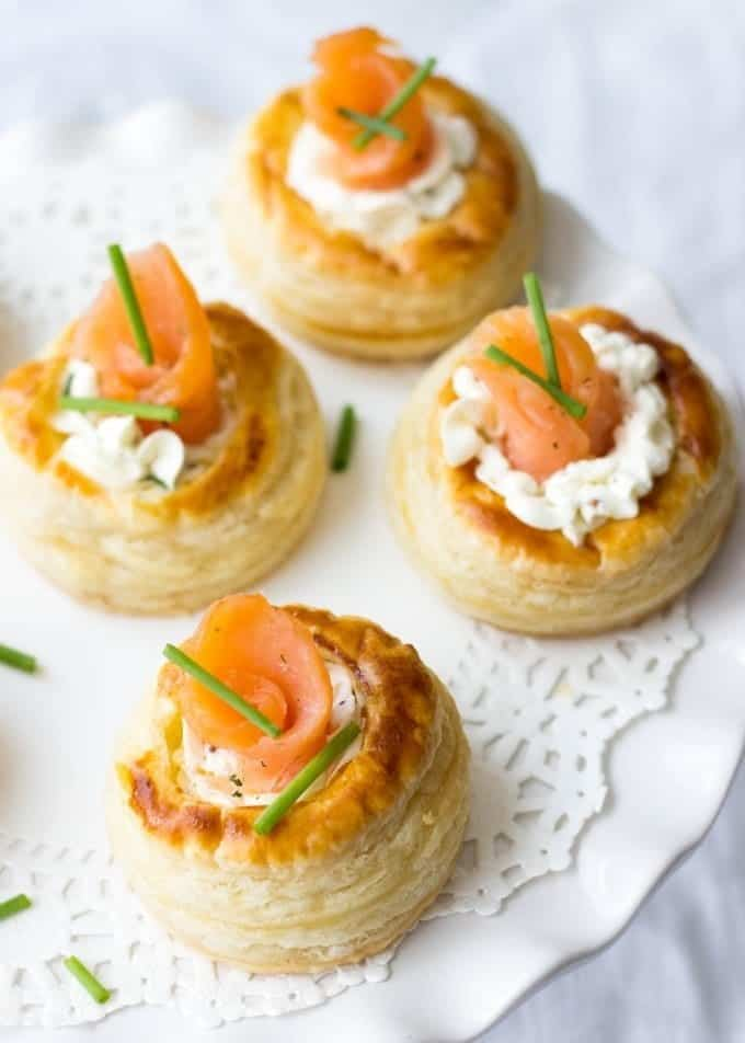 Cream Cheese And Smoked Salmon Vol Au Vents - Lavender ...